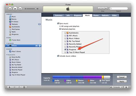 how to sync itunes to iphone ringtone for iphone from itunes