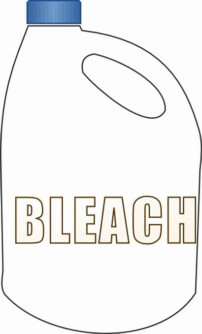 Bleach Bottle Clip Cliparts Clipart Drawing Clker