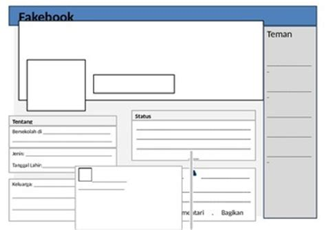 farcebook template simplified fakebook profile page template for tpt