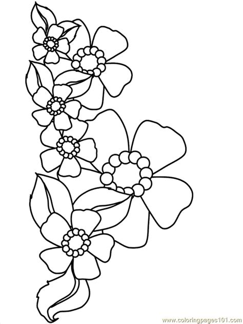 Coloring Flower by Flower Coloring 19 Coloring Page Free Flowers Coloring