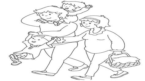 How to draw a Happy Family Drawing and Coloring Pages for
