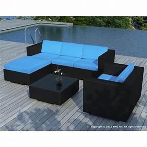 Coussin De Salon De Jardin : salon de jardin noire coussin turquoise sd8201 achat ~ Dailycaller-alerts.com Idées de Décoration