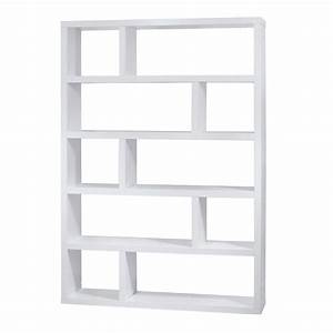 Dublin Tall White Modern Bookcase By TemaHome Eurway