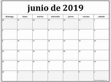 junio de 2019 calendario gratis Calendario de