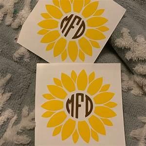 Home D U00e9cor Home  U0026 Garden Sunflower Monogram Decal Home