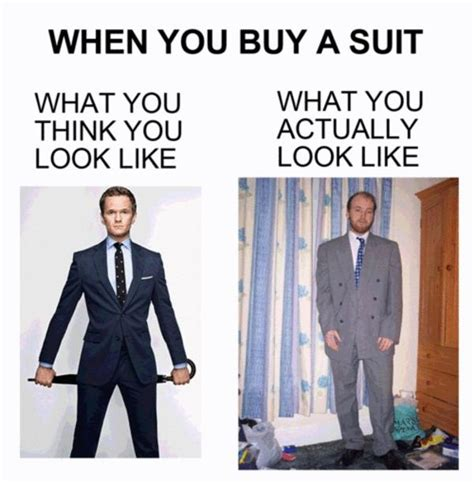Baby Suit Meme - image 272429 what you think you look like vs what you actually look like know your meme