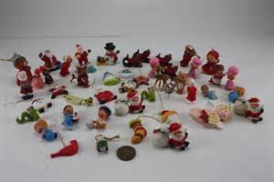 vintage miniature christmas ornaments plastic resin by cybersenora
