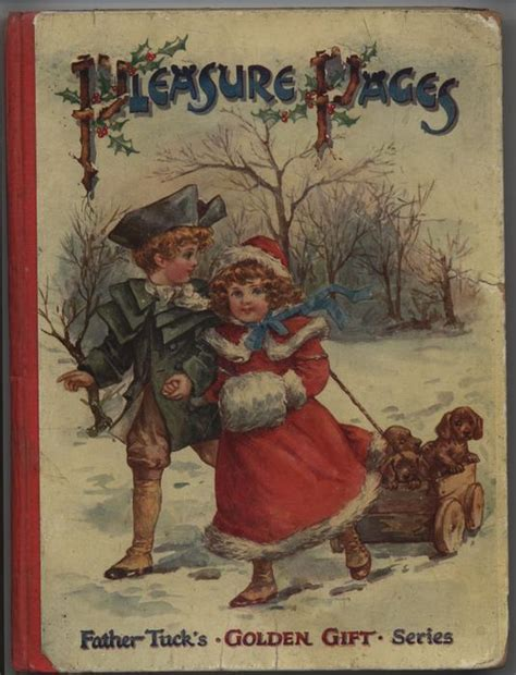 Pleasure Pages Girl And Boy Pull Wooden Wagon Containing