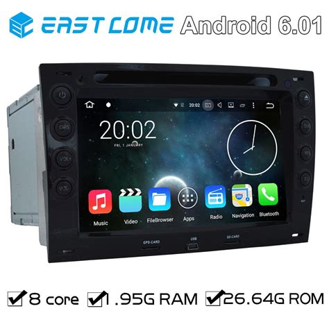 8 cores octa core pure android 6 01 car dvd player for renault megane 2003 2004 2005 2006 2007