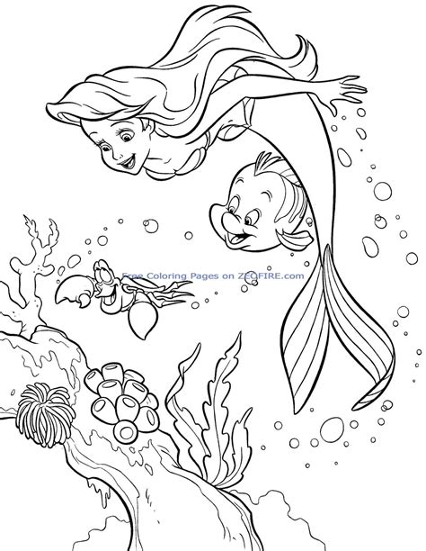 Coloring Pages Ariel Sea