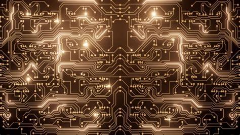 Abstract Loop Gold Circuit Studiodav Videohive