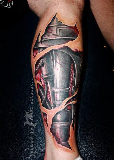 terminator leg tattoos  robert witczuk colour tattoos