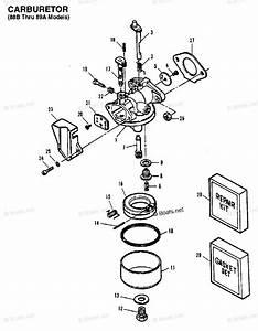Mercury Force Outboard Parts By Hp  U0026 Serial 5hp Oem Parts Diagram For Carburetor  88b Thru 89a