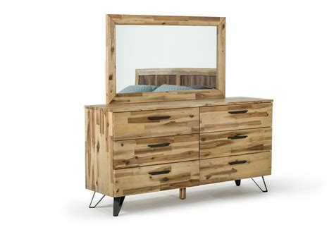 light wood dresser modrest sala modern light wood dresser mirror set
