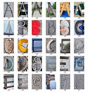 beach nautical letter photos individual 4x6 color With nautical letter art