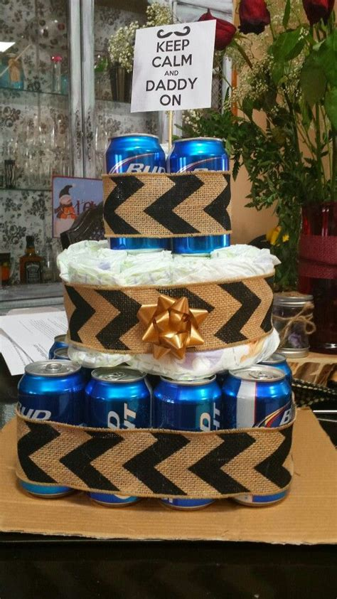 baby shower father beer diaper cake gift  dad diy