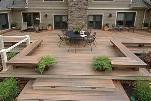 Gestaltung Von Terrassen : moderne terrassen gestaltung dielen sitzbank stilvoller outdoor outdoor garden ideas ~ Markanthonyermac.com Haus und Dekorationen