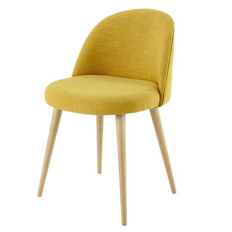 chaise maisons du monde yellow fabric vintage chair mauricette maisons du monde