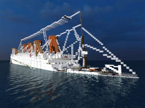 The Sinking Of The Britannic Version by Hmhs Britannic Sinking Version 1 1scale Minecraft Project