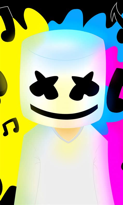 download 1280x2120 wallpaper marshmello music colorful