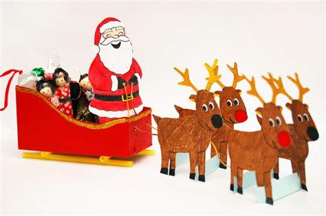 santa sleigh kids crafts fun craft ideas