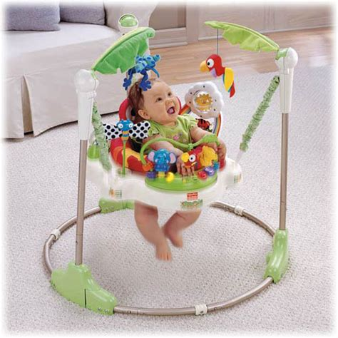 fisher price rainforest jumperoo infant bouncers and rockers baby