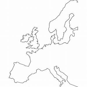 Europe Outline Vector Map