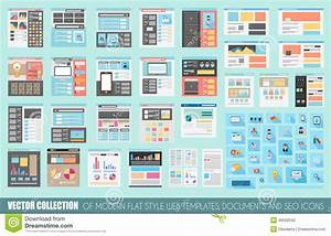 Mega Collection Of Flat Style Website Templates Stock ...
