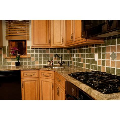 photos of kitchen backsplashes nexus wall tiles vinyl 4 in x 4 in self sticking motif 4163