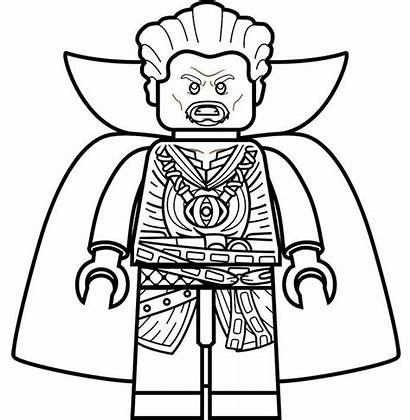 Strange Lego Coloring Dr Doctor Pages Printable