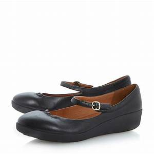Fitflop Fpop Mary Jane Ballerina Shoes in Black (Black ...