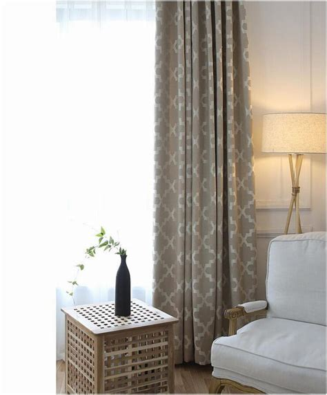 Ga New Geometric Print Blinds Fabric Curtain For
