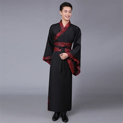 New 5 Color Ancient Chinese Hanfu Costume Men Clothing