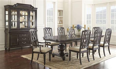 vivaldi double pedestal dining room set steve silver