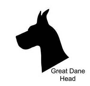 Great Dane Dog Head Silhouette