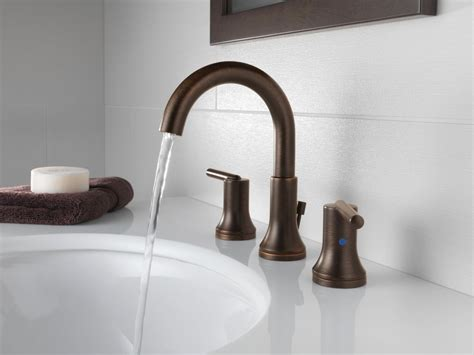 delta 3559 mpu trinsic widespread bathroom faucet faucet 3559 rbmpu dst in venetian bronze by delta
