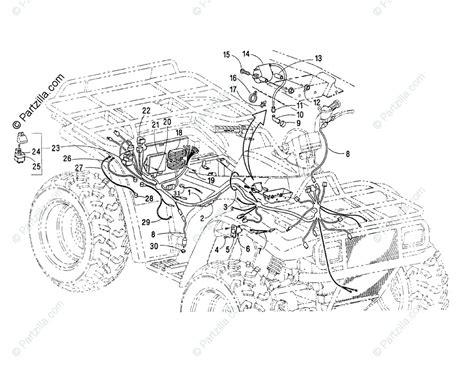 arctic cat atv 2000 oem parts diagram for wiring harness assembly partzilla com