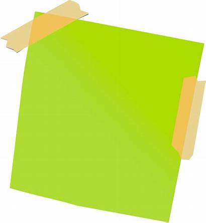 Clipart Sticky Note Notes Transparent Clip Tape