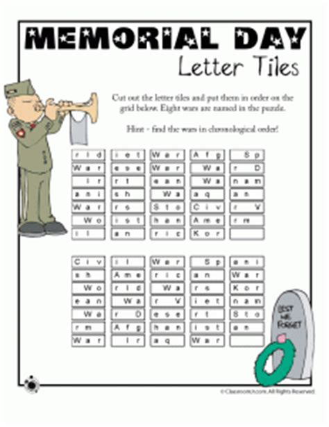 memorial day worksheets  kids classroom jr