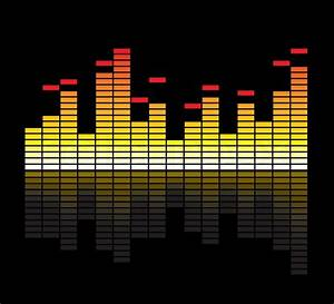 Vector color scale equalizer on black background   Stock ...