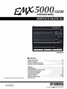 Yamaha Emx5000 Powere Mixer Service Manual