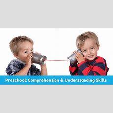 Comprehension Skills Understanding Receptive Language In Preschool Children  Speechnet Speech