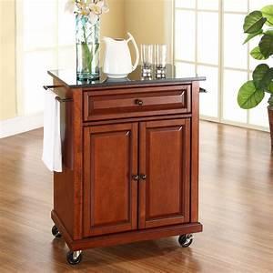 Kitchen, Cart, Wood, Rolling, Island, Storage, Locking, Caster, Wheels, Granite, Top