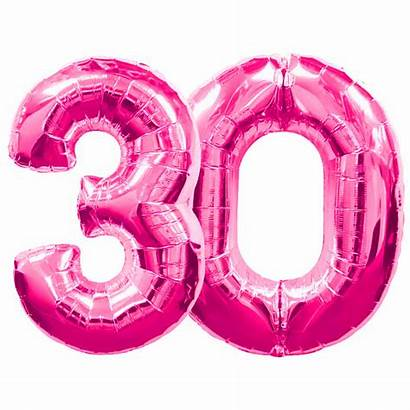 Balloons Number Pink 28 Thirty Helium Birthday