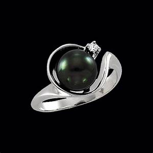 Black Pearl Rings White Gold Simplicity At Its Finest