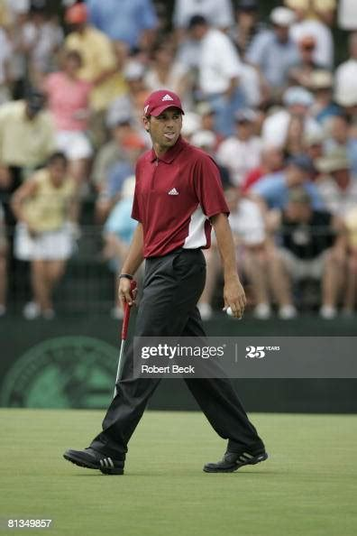 US Open, Sergio Garcia sticking tounge out during Saturday ...
