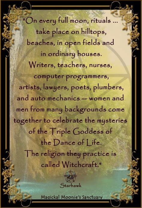 wiccan quotes   hunters moon quotesgram