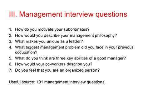 Retail Sales Questions From Manager by Sales Manager Questions