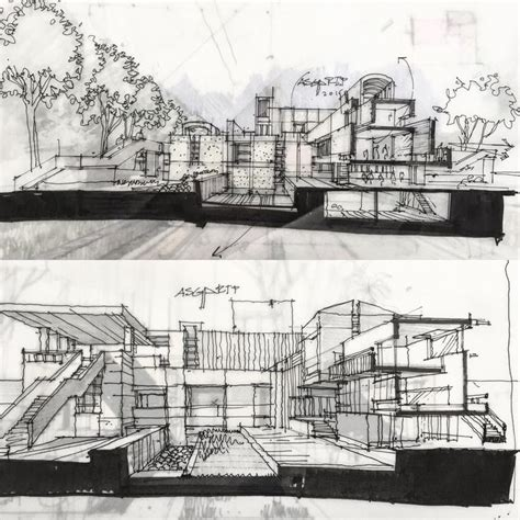 1895 Best Architectural Sketches Images On Pinterest