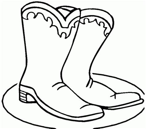 Cowboy Pictures To Color by Cowboy Boots Coloring Pages Coloring Home
